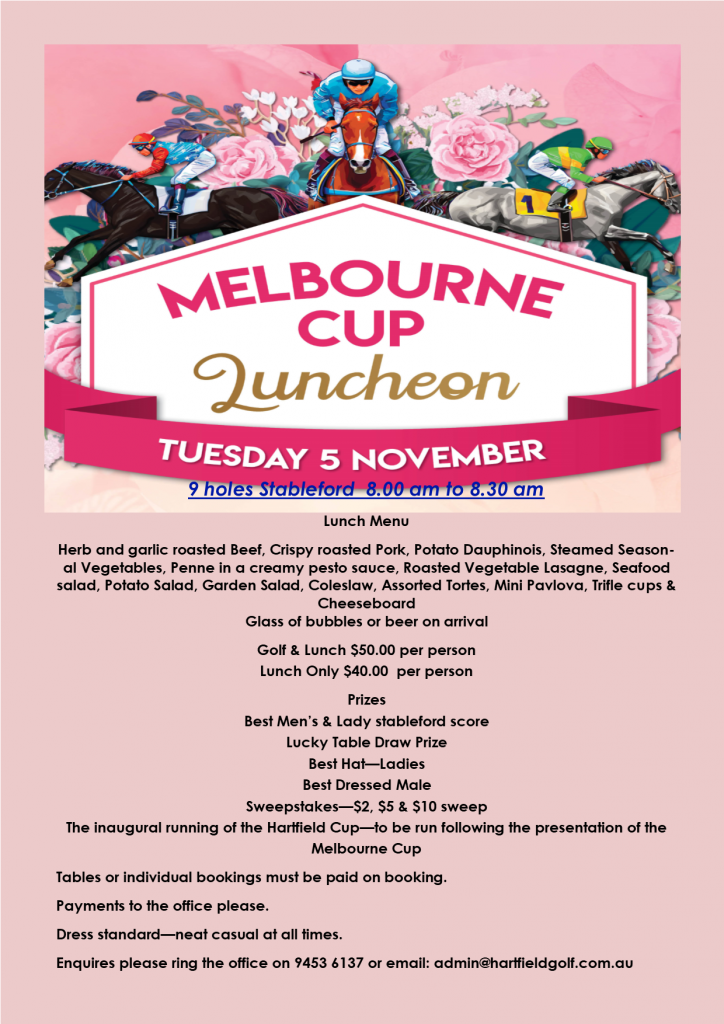 2019 Melbourne Cup Golf & Lunch